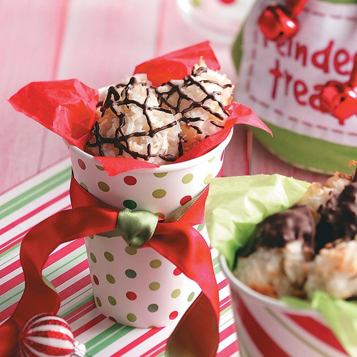 Triple-Coconut Macadamia Macaroons