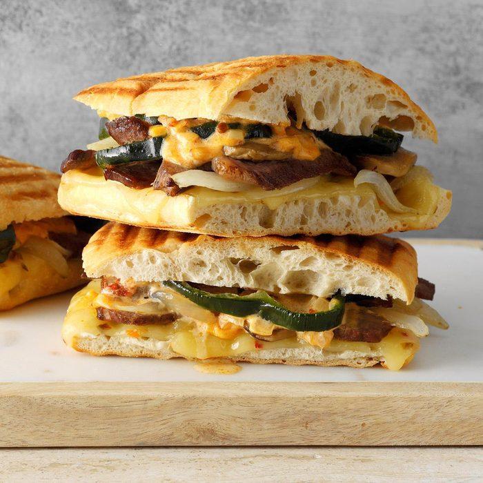 Triple Pepper Steak Sandwiches
