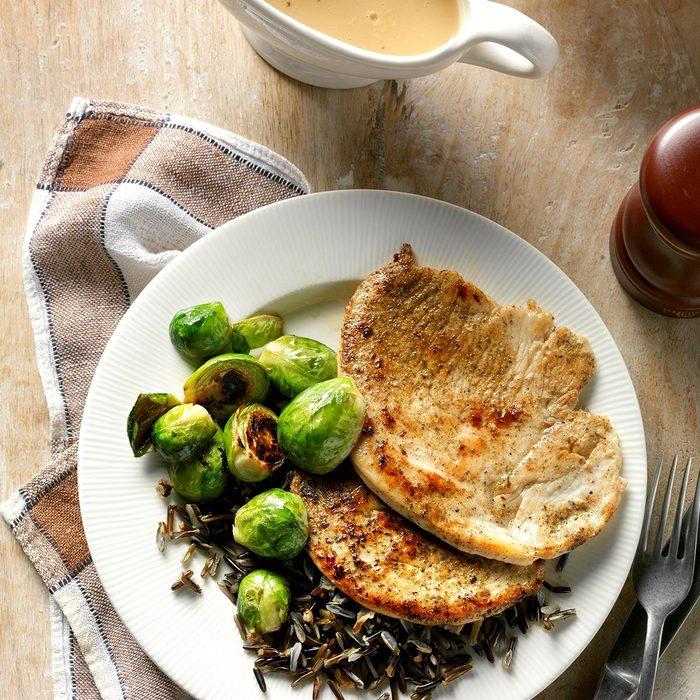 Turkey Cutlets with Pan Gravy