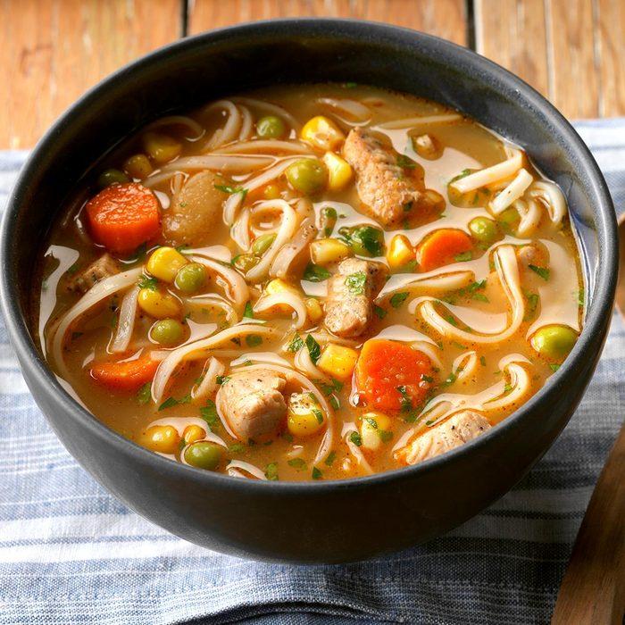 Turkey Ginger Noodle Soup