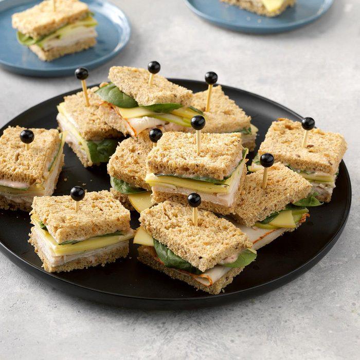 Turkey, Gouda & Apple Tea Sandwiches
