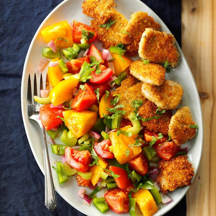 Day 4 Dinner: Turkey Medallions with Tomato Salad
