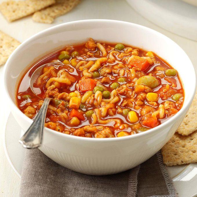 Turkey & Noodle Tomato Soup