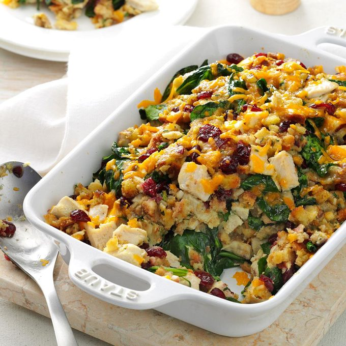 Turkey Spinach Stuffing Casserole Exps133250 Sd132779b06 06 3bc Rms