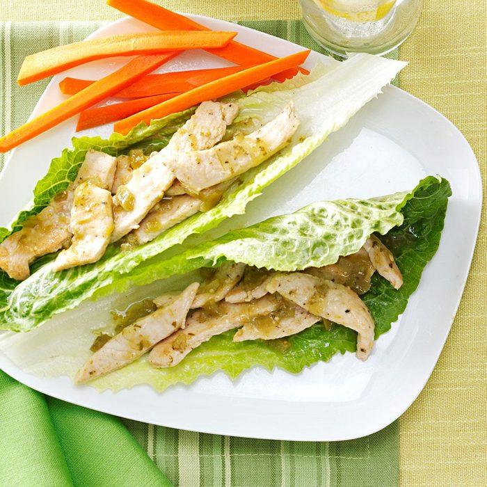 Turkey Verde Lettuce Wraps