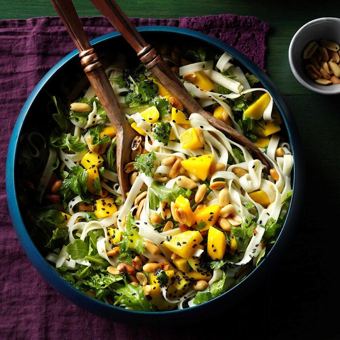 Udon Noodles with Pineapple Vinaigrette