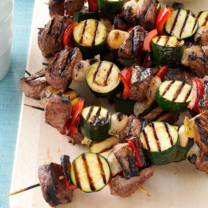 Day 25: Vegetable Beef Kabobs