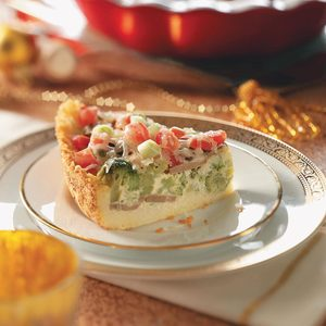 Veggie Couscous Quiche
