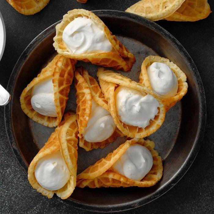 Whipped Cream Krumkake