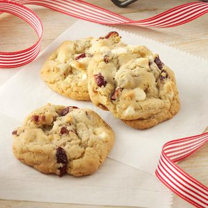 White Chocolate Cran-Pecan Cookies