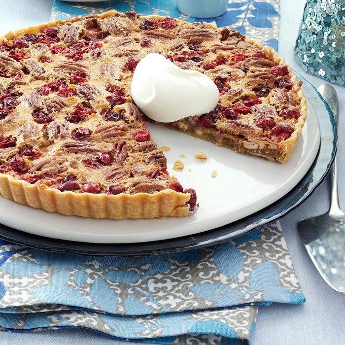 White Chocolate-Cranberry-Pecan Tart