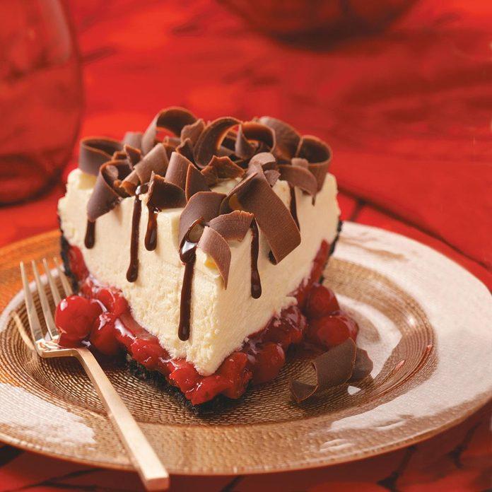 White Chocolate Mousse Cherry Pie