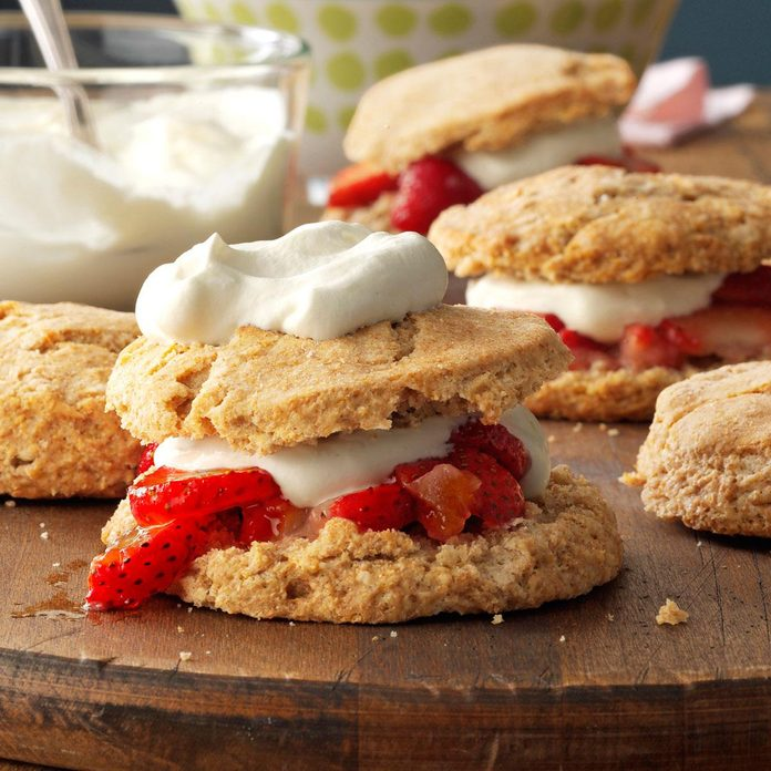 Whole Wheat Strawberry Shortcakes