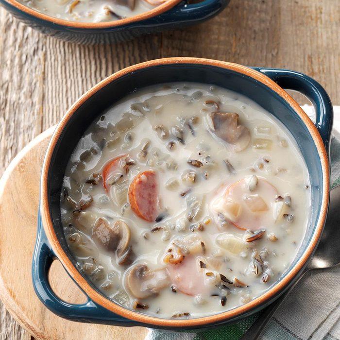 Day 6: Wild Rice Mushroom Soup