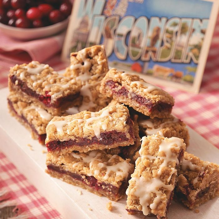 Winning Cranberry Date Bars
