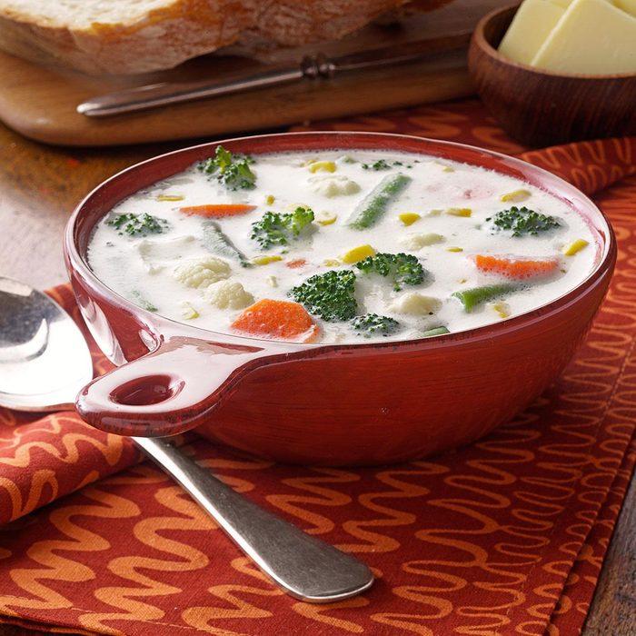 Winning Cream of Vegetable Soup