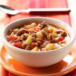 Zesty Hamburger Vegetable Soup
