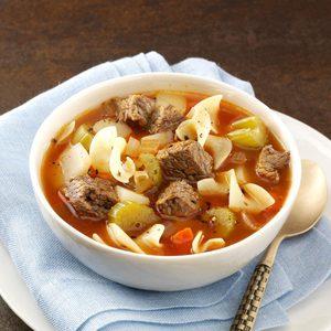 Zesty Vegetable Beef Soup