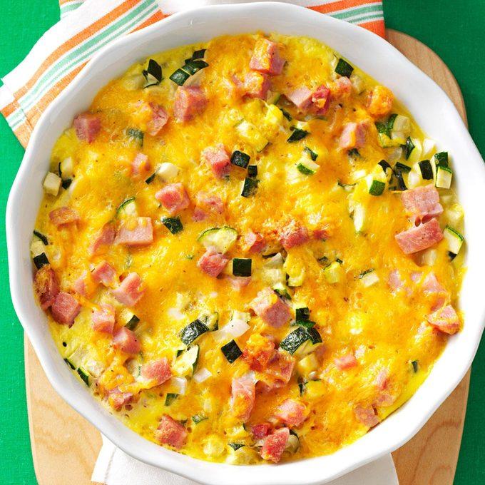 Zucchini Ham Frittata