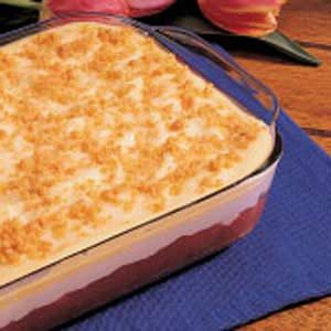 Rhubarb Pudding Dessert