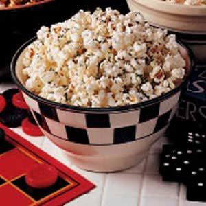 Parmesan-Garlic Popcorn Snack