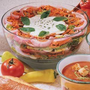 Layered Roast Beef Salad