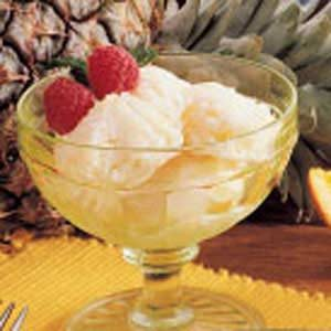 Honey Pineapple Sherbet