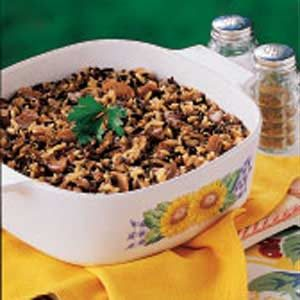 Mushroom Wild Rice Bake