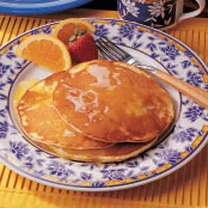 Sunrise Orange Pancakes
