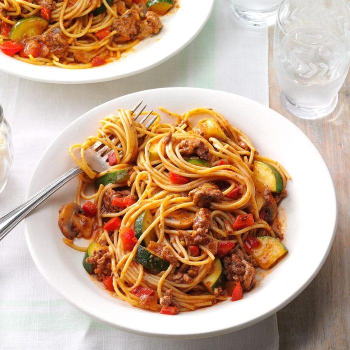 Hearty Garden Spaghetti