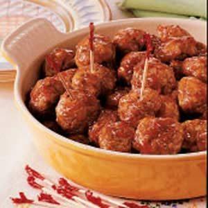Sweet-Hot Sausage Meatballs