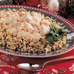 Creamed Turkey over Rice