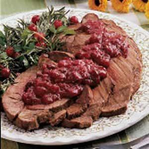 Pot Roast with Cranberry Sauce