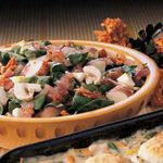 Spinach Salad with Red Potatoes