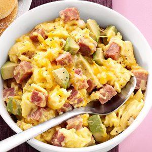 Ham and Avocado Scramble
