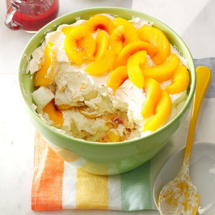 Peach Melba Trifle