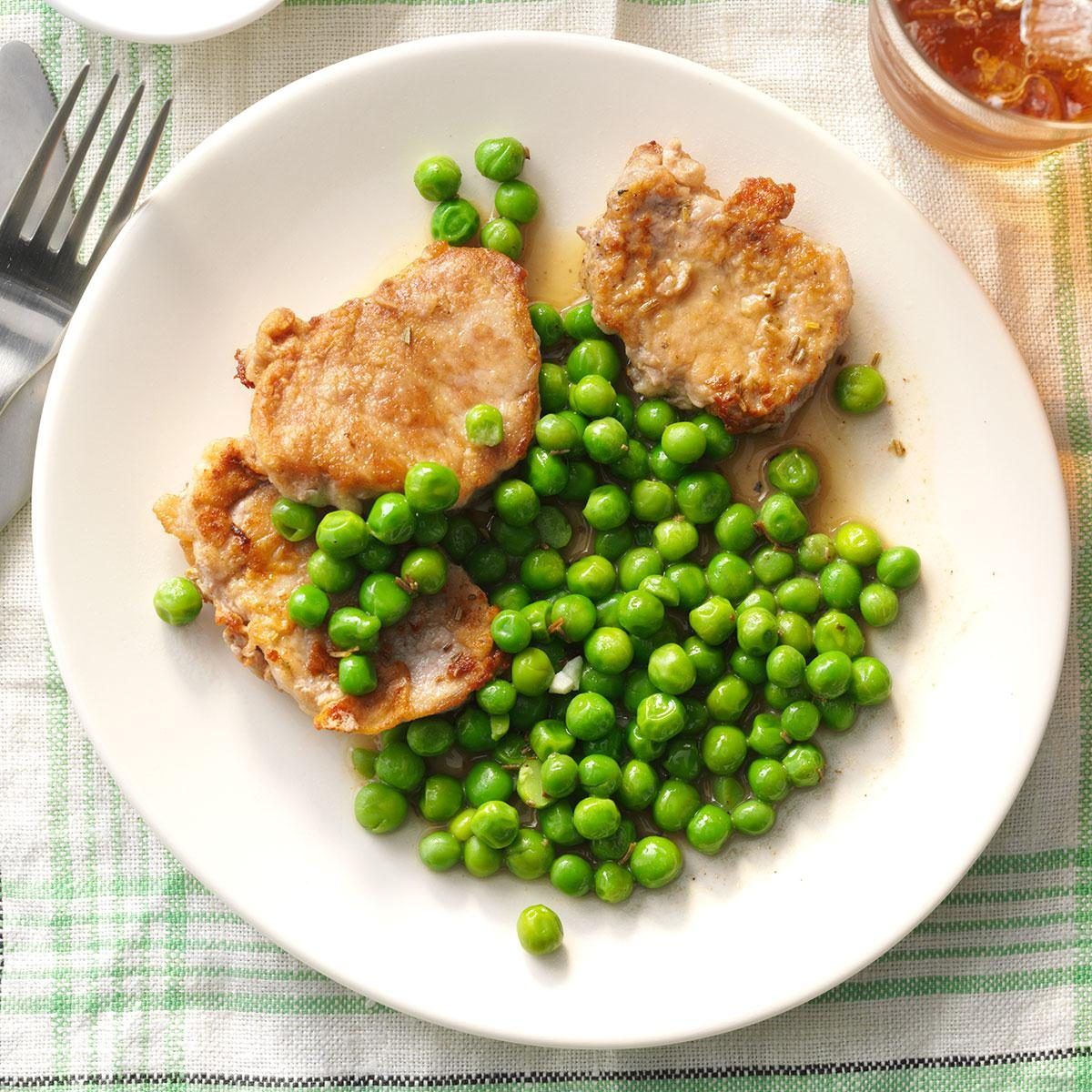 Day 10: Rosemary Pork Medallions with Peas