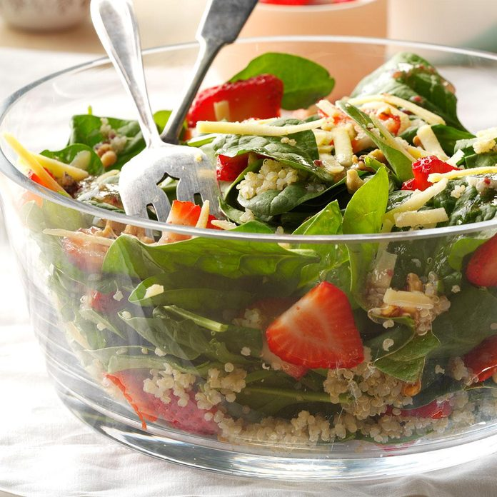 July 7: Strawberry-Quinoa Spinach Salad