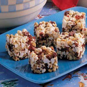 Cranberry Popcorn Bars