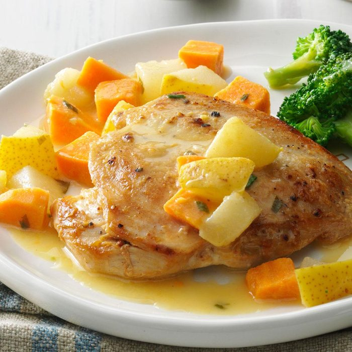 Chicken with Pear & Sweet Potato