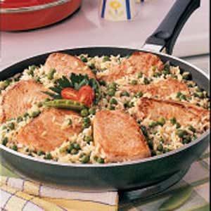 Pork Chops Over Rice