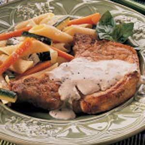 Pork Chops with Herbed Cream Sauce
