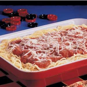 Three-Cheese Spaghetti Bake