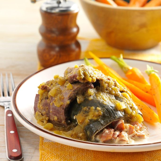 Beef-Wrapped Stuffed Peppers