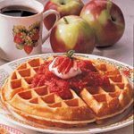 Strawberry-Topped Waffles