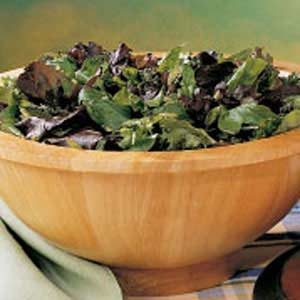 Greens with Herb Dressing