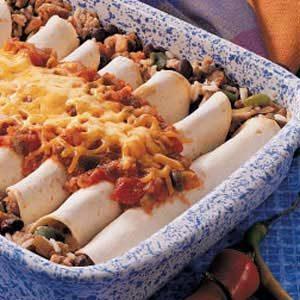 Sausage Bean Burritos