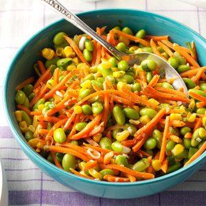 Edamame Corn Carrot Salad