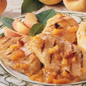 Grilled Chicken with Peach Sauce