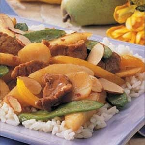 Pork and Pear Stir-fry